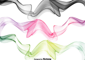 Abstract Swish Wave Vectors - Free vector #356399