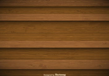Vector Wooden Background - vector gratuit #356419