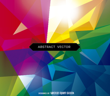 Abstract triangle polygonal background - vector #356429 gratis
