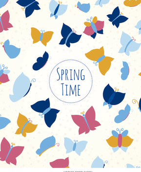 Spring butterflies background - Free vector #356509