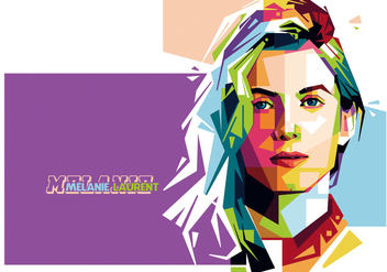 Vector Melanie Laurent Portrait - бесплатный vector #356529
