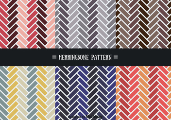 Colorful Herringbone Pattern Vectors - vector gratuit #356599