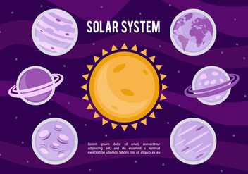 Free Solar System Vector Background - vector gratuit #356649