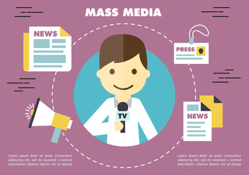 Free Journalism Press Vector Backround - vector gratuit #356799