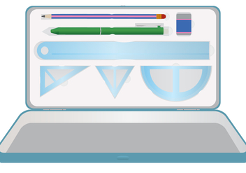 Stationery Pencil Case Vector - vector gratuit #356809