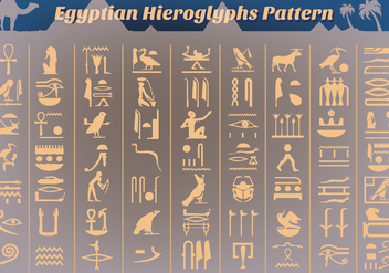 Free Ancient Egyptian Hieroglyphs Vector - Free vector #356819