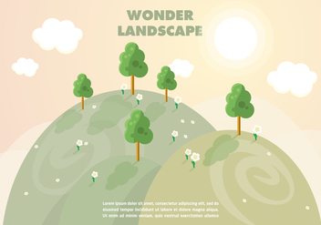 Free Wonder Landscape Vector Background - бесплатный vector #356879