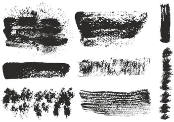 Free Vector Eroded Brushes Strokes - Free vector #356949