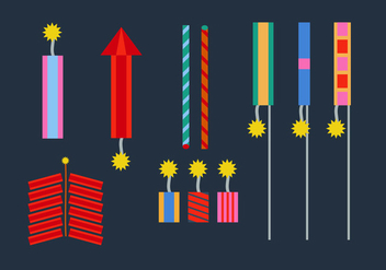 Free Fire Crackers Vectors - Free vector #356969