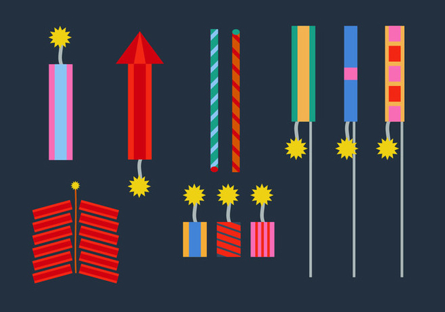 Free Fire Crackers Vectors - vector gratuit #356969