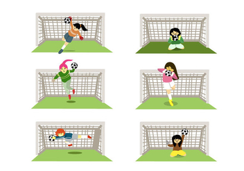 Female Goal Keepers Vector - Kostenloses vector #356979
