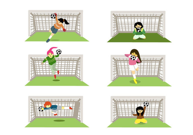Female Goal Keepers Vector - бесплатный vector #356979