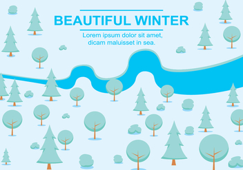Free Vector Winter Landscape - бесплатный vector #357019