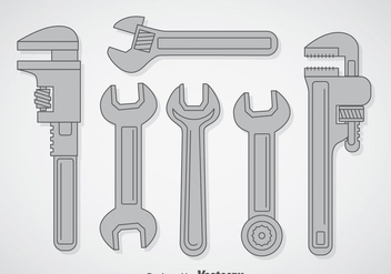 Wrench Vector Sets - vector gratuit #357059