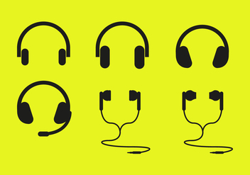 Ear Buds Headphones Icons Vector - Free vector #357069