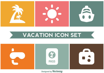 Vacation Icon Set - vector gratuit #357099