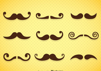 Mustaches Icons Vector - бесплатный vector #357119