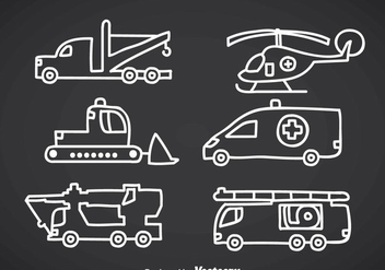 Emergency Vehicle Doddle Vectors - Free vector #357139