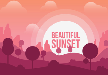 Free Beautiful Sunset Vector - Free vector #357159