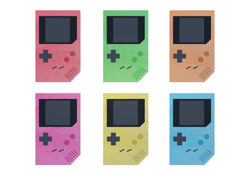 Free Watercolor Nintendo Game Boy Vectors - бесплатный vector #357209