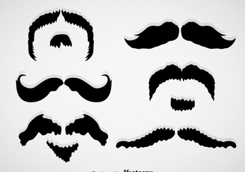Movember Mustache Black Vectors - бесплатный vector #357259