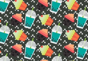 Free Bubble Tea Vector Pattern #2 - Free vector #357269