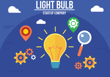 Free Creative Light Bulb Vector - vector gratuit #357289