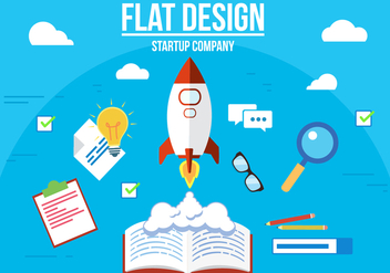 Free Startup Company Vector Illustration - бесплатный vector #357319