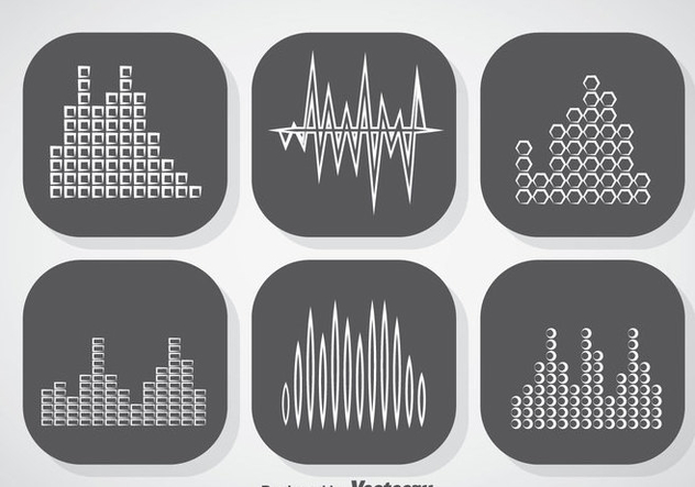 Music Sound Bars Icons Vector - Free vector #357369