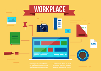 Free Work Place Vector Elements and Icons - Free vector #357399