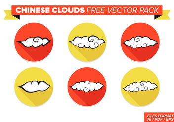 Chinese Clouds Free Vector Pack - Kostenloses vector #357469