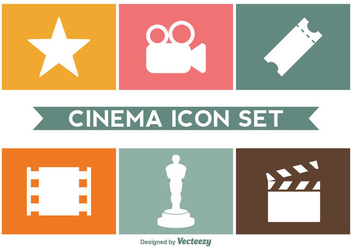 Cinema Icon Vector Set - Free vector #357569