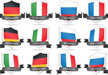 Vector Flag Shields - Free vector #357579