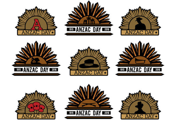 Anzac Vector Badges - Free vector #357659