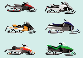 Snowmobile Vector - Free vector #357719