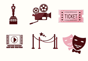 Cinematography Icons Vector - Kostenloses vector #357729