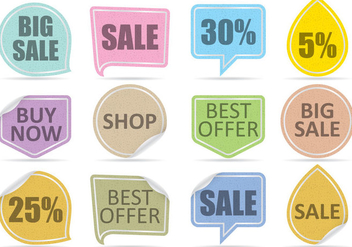 Sale Label Vectors - vector gratuit #357739