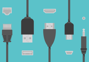 Hdmi Cable Wire Flat Illustration Vector - vector #357919 gratis