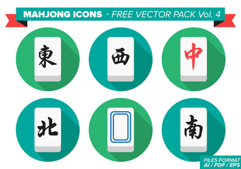 Mahjong Icons Free Vector Pack Vol. 4 - Free vector #358019