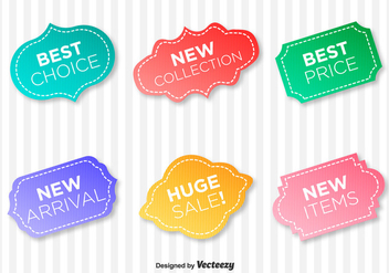 Quality Warranty Vector Labels - бесплатный vector #358139