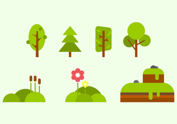 Free Green Nature Vectors - бесплатный vector #358189
