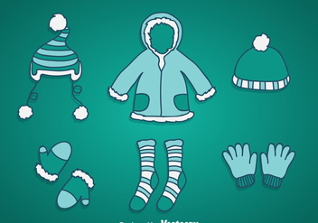 Winter Coat Vector - Kostenloses vector #358359