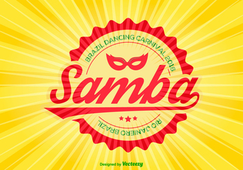 Colorful Samba Vector Illustration - Kostenloses vector #358369