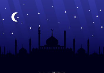 Arabian Night Background - vector #358389 gratis