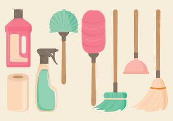 Vector Spring Cleaning Essentials - бесплатный vector #358409