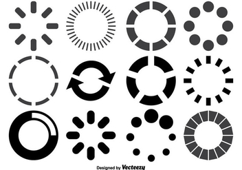 Loading Circles Shape Set - vector gratuit #358449