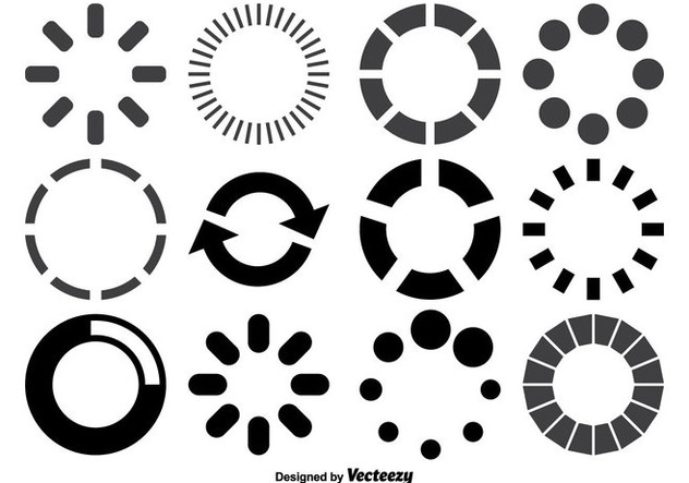 Loading Circles Shape Set - Free vector #358449
