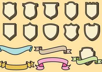 Decorative Shields - vector gratuit #358459