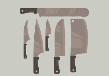 Vector Cleaver Knife Collection - бесплатный vector #358519
