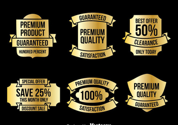 Gold Labels Vector Sets - vector gratuit #358539